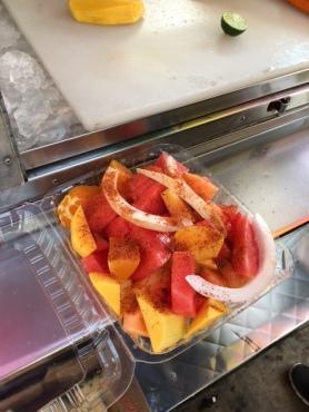 Spicy fruit salad (too good)